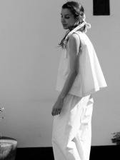Summer Crew Neck Sleeveless White Women Sets