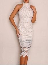Fashion Venise Lace Sleeveless Dresse