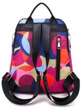 Waterproof Contrast Color Printed Backpack