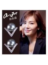 Elegant Pearl Stud Earrings For Women