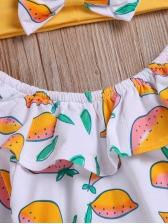 Boat Neck Lemon Tee With Yellow Flare Pants