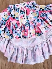 A-Line Neck Lace Detail Flower Girl 2 Piece Set