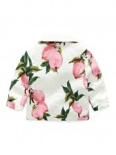 Turndown Neck Lemon Pocket Girls Shirt