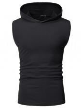 Simple Design Solid Hooded Vest