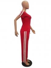 Euro Striped Side Wide Leg Womens Tracksuit