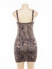 Sexy Leopard V Neck Bodycon Dress