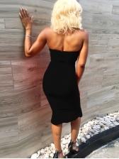 Sexy Halter Backless Ruffle Bodycon Dress