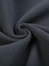 Contrast Color Hooded Collar Waterproof Coat