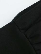 Lapel Button Up Pockets Long Sleeve Dress
