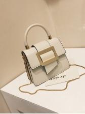 Simple Design Solid Hasp Square Shoulder Bag