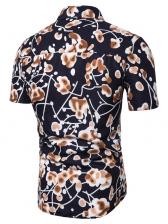 Casual Floral Short Shirt For Men