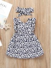 Fresh Style Ruffles Baby Girl Floral Dress