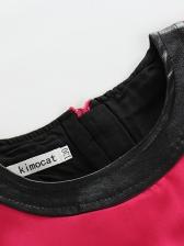 Stylish Bag Printed Girls Sleeveless Dress