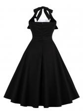 Summer Pleated Halter Dress For Women