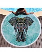 Indian Elephant Polyester Picnic Mat Shawl