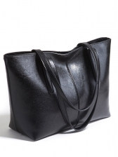 Ladies All-match Solid Color Tote Bag