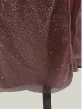 Sexy V Neck Sequined Blush Evening Dress