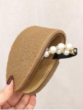 Fashionable Pearl Pu Toe Ring Women Slippers