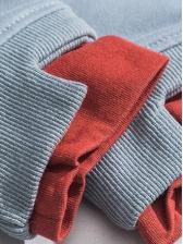 New Arrival Contrast Color Crew Neck Sweatshirt