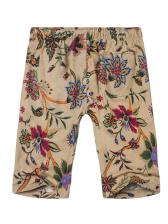 Printed Drawstring Men Straight Half Shorts