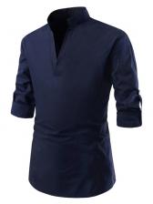Casual V Neck Long Sleeve Shirt For Men