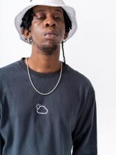 Printed Crew Neck Long Sleeve Sweatshirt