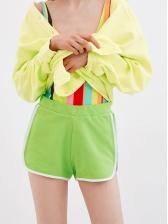 New Arrival Contrast Color Yoga Hot Pants