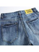 Easy Matching Straight Denim Light Blue Jeans