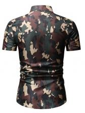 Stylish Camouflage Casual Short Sleeve Shirt For Men