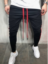 Casual Color Block Sporty Long Pants For Men