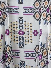 Pastoral Style Geometric Printed Chiffon Cover Ups