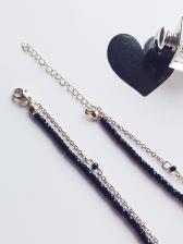 Simple Design Beading Chain Mini Necklace