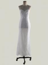 Hot Sale Sexy Spaghetti Strap White Maxi Dress