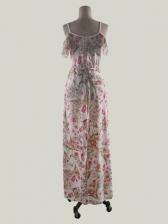 Hot Sale V Neck Beach Spaghetti Strap Maxi Dress