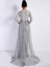 Boutique Vintage High Collar Elegant Evening Dress