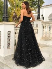 Sexy Studded Strapless Maxi Dress