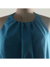 Sexy Backless Sleeveless Halter Maxi Dress