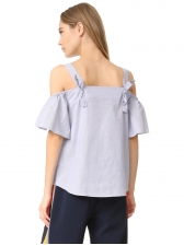 Fashion Design Off Shoulder Straps Ladies Blouse