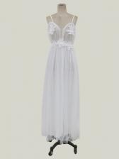 Sexy V Neck Backless Maxi Wedding Dress