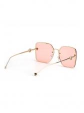 Fashion Ocean Lens Large-Frame Sunglasses