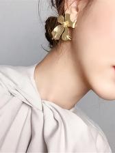 Vintage Style Chic Metal Flower Earrings