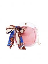 Silk Scarf Transparent Crossbody Bag