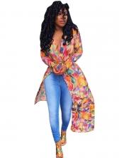 Hot Sale Printing Long Coat For Women