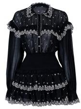 Boutique Lace Patchwork Long Sleeves Women Suit
