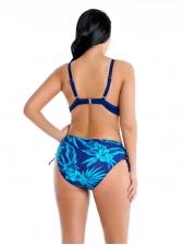 Plus Size Flower Printed Women Bikini Set