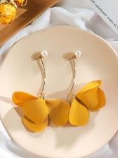 Stylish Stereo Flower Faux Pearl Earrings