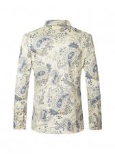 Fashionable Causal Printed Long Sleeve Shirt