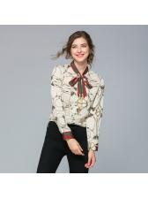 Trendy Self Tie Printed Ladies Blouse