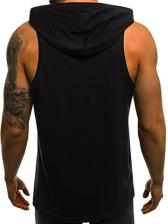 Fashion Scratch Print Men Hooded Vest