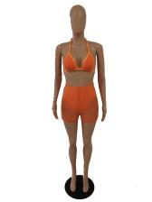 Sexy Studded Decor High Solid Waisted Bikini